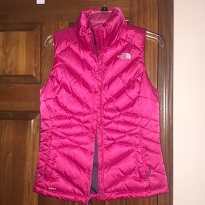 Puppy pink North Face vest